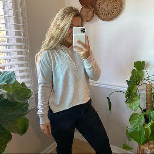 PJ Salvage Pearl Stud Pullover Sweatshirt M